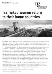 Trafficked women return to their home countries - FiZ