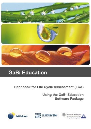 View the Handbook - GaBi Software