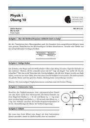 Physik I Übung 10