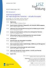 Anämiemanagement bei nephrologischen Patienten - Fortbildung ...
