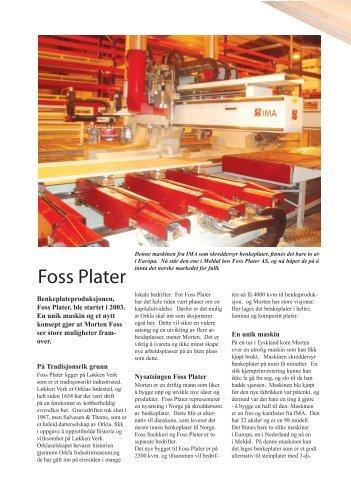 Tre og Profil - Foss Plater