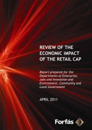 Review of the Economic Impact of the Retail Cap - Forfás