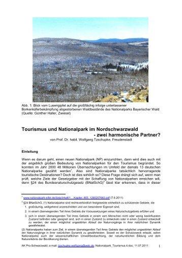 Tourismus und Nationalpark im Nordschwarzwald - Forstkammer ...