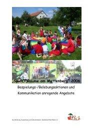 Spielräume am Mattenberg - Frauentreff Brückenhof