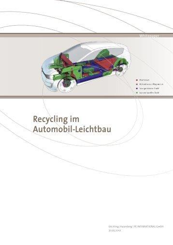 Recycling im Automobil-Leichtbau Recycling im ... - GaBi Software