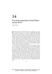 East Asian Cooperation, Social Policies and the WTO