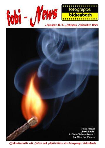 Clubzeitschrift mit Infos und Aktivitäten der fotogruppe bickenbach ...