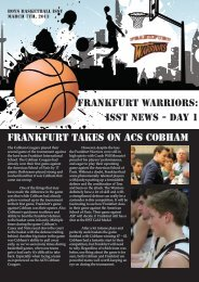 ISST News - Day 1 Frankfurt Takes on ACS Cobham