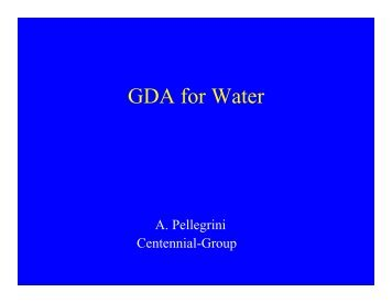 GDA for Water - A. Pellegrini - Fiscal Reform