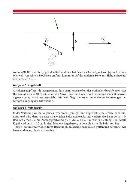 Physik für ETIT Übung 1