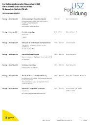 Fortbildungskalender November 2004 der Kliniken und Institute des ...