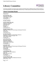 Library Committee Roster - Galter Health Sciences Library