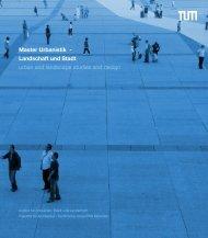 Master Urbanistik - Fakultät für Architektur - Technische Universität ...