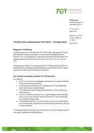Bilag 1. Arbejdsprogram for 2011-2012 - FOT - Danmark