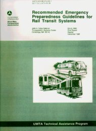 Recommeded Emergency Preparedness Guidelines for Rail Transit ...