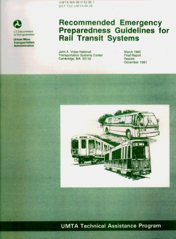 Recommeded Emergency Preparedness Guidelines for Rail Transit ...
