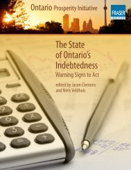 The State of Ontario's Indebtedness: Warning Signs ... - Fraser Institute
