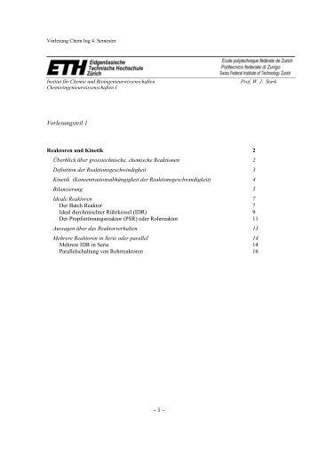 H01 Reaktoren und Kinetik