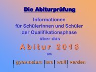 Informationen - gymnasium am wall verden