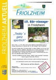 Blättle KW 5 - Friolzheim