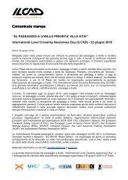 Comunicato stampa ILCAD (.pdf 79 KB ) - FSNews