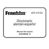 Diccionario alemán-español - Franklin Electronic Publishers, Inc.