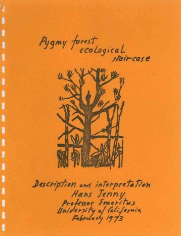 Pygmy forest ecological staircase: description ... - State of California