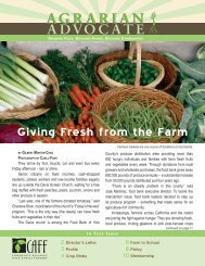 Fall 2010 - Community Alliance with Family Farmers
