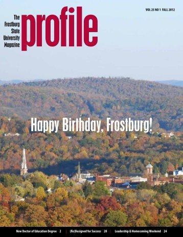 Fall 2012 - Frostburg State University