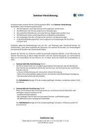 Seminar-Versicherung - Der frankfurter ring