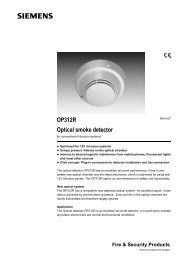 OP312R Optical smoke detector