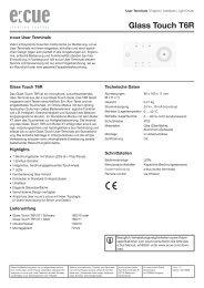 Glass Touch T6R - Barthelme Gmbh & Co. KG