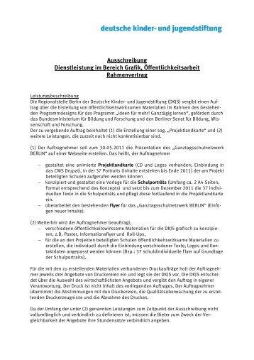 Handreichungen Für Die Vergabe Von Dienstleistungen Mai 2007