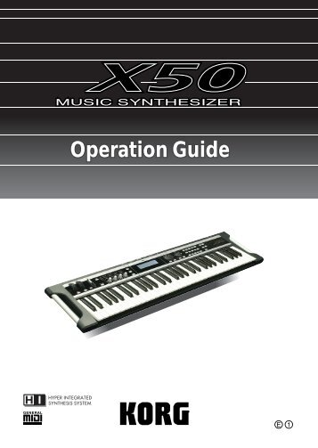 X50 Operation Guide - Korg