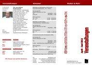 Veranstaltungen Adressen Medien & Mehr - Tandemclub Offenbach