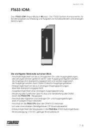FT633 IOM: - Funktronic