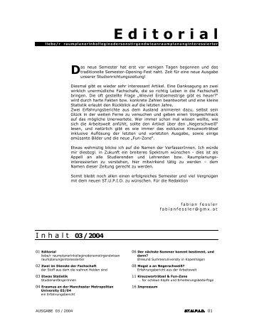 Ausgabe 3 - Fachschaft Raumplanung