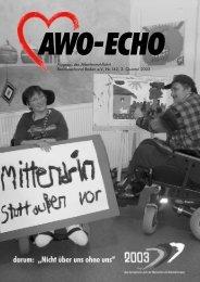 2. Quartal 2003 | Awo-Echo Ausgabe 142 - AWO Baden