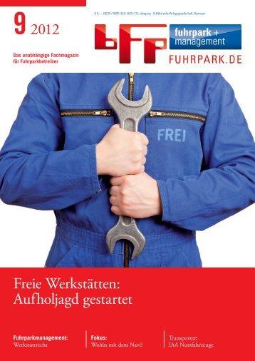 92012 Freie Werkstätten: Aufholjagd gestartet - fuhrpark.de ...