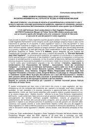 Prima Giornata Nazionale degli Stati Vegetativi - Fondazione ...