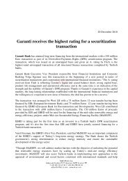 Garanti receives the highest rating for a securitization transaction