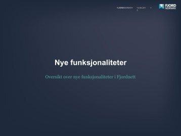 Nye FjordNett funksjoner - Fjord Norway