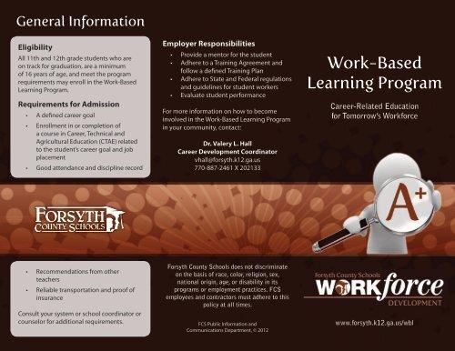 WBL Brochure - Forsyth County Schools