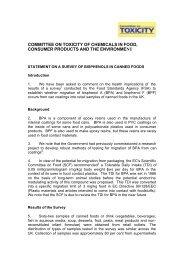 COT Bisphenols pdf - Food Standards Agency