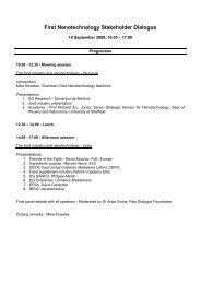First Nanotechnology Stakeholder Dialogue - FoodDrinkEurope