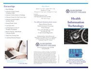 Health Information Technology - Gloucester County College