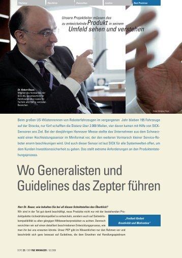 Wo Generalisten und Guidelines das Zepter führen - der f&e manager
