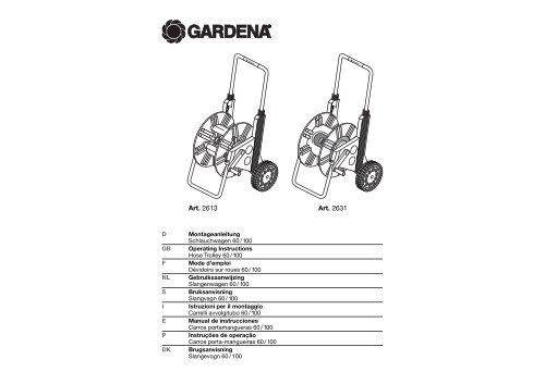 OM, Gardena, Carros porta-mangueiras 60/100, Art 02631-20, Art ...
