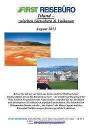 Island – - First Reisebüro