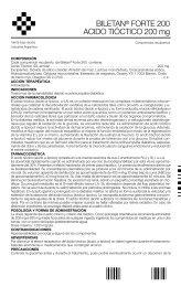 Biletan Forte 200 mg - Gador SA